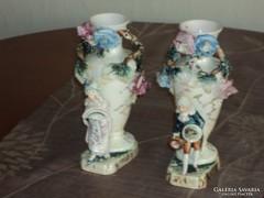 2 db antik fajansz vázapár