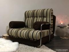 Retro csővázas nagymeretű fotel,ágy,fotelágy praktikus