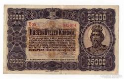 1923 25 000 korona