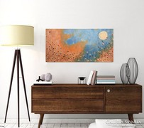 Holdfényben-moder festmény