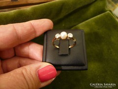 Gyöngyös - brilles antik gyűrű