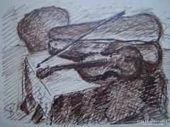 Csendélet hegedűvel- jelzett