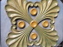 Zsolnay: Pálmaleveles pirogránit csempe
