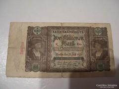 Németország 2 Millió Márka 1923 Berlin.