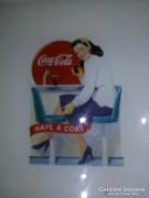 Coca-cola-s díszüveg tányér