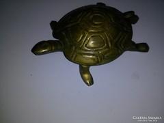 Réz teknősbéka hamutartó