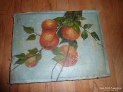 Almafa ága gyümölccsel, régi olajfestmény