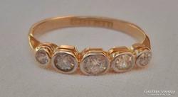 Öt db brill18kt arany-platina gyűrű