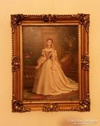Sziszi festmény, Bara szignó, 31x24cm a festmény.