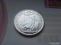 Brittannia 31,1 gramm ezüst 0,999