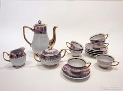 Csodálatos 6 személyes porcelán kávéskéskészlet
