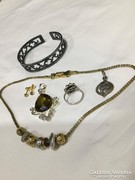 Ezüst gyűrű, medál , swarovski nyaklánc. Stb.