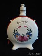 Budapest porcelán festett kulacs