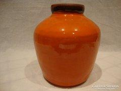 Jelzett retro iparművész kerámia váza