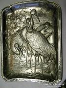 Régi réz(ezüstözött) relief ,dombormű...falikép
