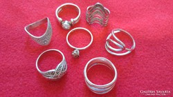 7 db 925 ezüst gyűrű