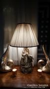 Nagy méretü Szerelmes párt ábrazol porcelán asztali lámpa
