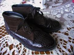 RIEKER bőr meleg téli cipő 38-as.