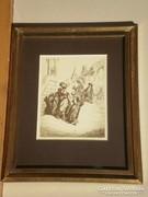 Gustave Doré (1832-1883) : Utcai jelenet