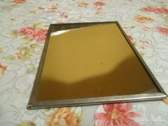 Régi fémkeretes asztali tükör