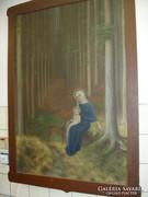 Mária és kis Jézus, őzikével. Pankotán I. 1932
