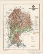 Hont vármegye térkép 1894, antik, eredeti