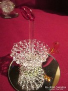 6 cm magas üveg dísz 6 cm es tükrön