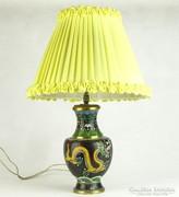 0K372 Régi keleti sárkányos tűzzománc váza lámpa