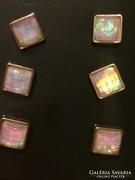 Gyönyörű 3 pár opál fényű fülbevaló