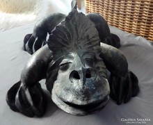 Raku kerámia hatalmas sárkány, készítő: Vertel Andrea