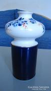 Unterweissbach váza, echt Kobalt, hibátlan, 20,5 cm