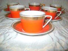Régi Hollóházi kávés készlet - hat személyes