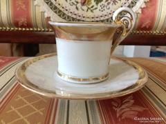 Bieder biedermeier antik bécsi csésze és csészealj