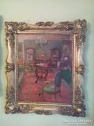 100 éves festmény enteriőr