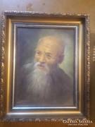 Idős férfi portréja ,