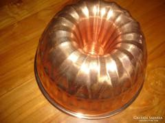 Réz kuglófsütő kuglóf forma