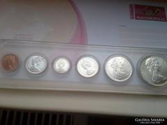 1967 Kanada ezüst forgalmi sor UNC