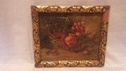 Antik festmény asztali csendélet