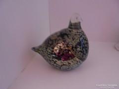Különleges muranói üveg madár figura