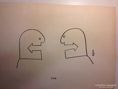 Hegyi Füstös László (Ludas Matyi): Vita karikatúra