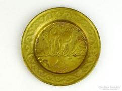 0K476 Régi egyiptomi réz dísztányér 12 cm