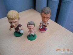 3 db Mini Gyűjthető Focista Figurák
