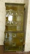 Szecessziós meisseni PORCELÁN csempéből épített cserépkályha