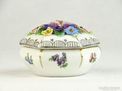 0K210 Antik altwien porcelán bonbonier