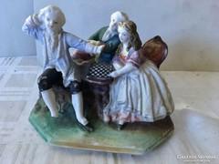 Nagyon régi porcelán sakkozók