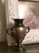 Ezüst antik ibolya váza dísztárgy, vitrin díszek