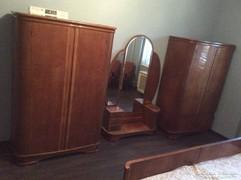 Antik (tömör fa) hálószoba garnitúra