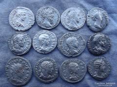 Római ezüst pénzek