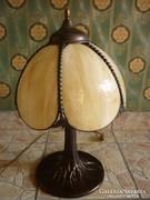 Gyönyörű asztali lámpa...55 cm magas fém+üveg