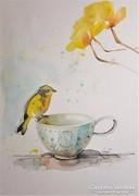 Kanári és teáscsésze